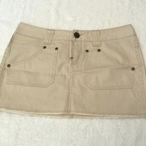 Express khaki mini skirt